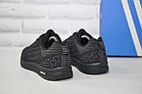 Легкі чоловічі чорні кросівки сітка в стилі Adidas, фото 2