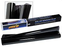 Тонувальна плівка SOLAR оригінал! 75*300 см 5% Super Dark Black. Плівка для тонування стекол чорна.