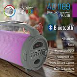 Портативная Bluetooth-колонка Adler AD 1169 светящаяся разными цветами, фото 5