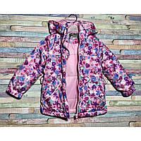 Ошатна демі куртка на дівчинку на ріст 92-110