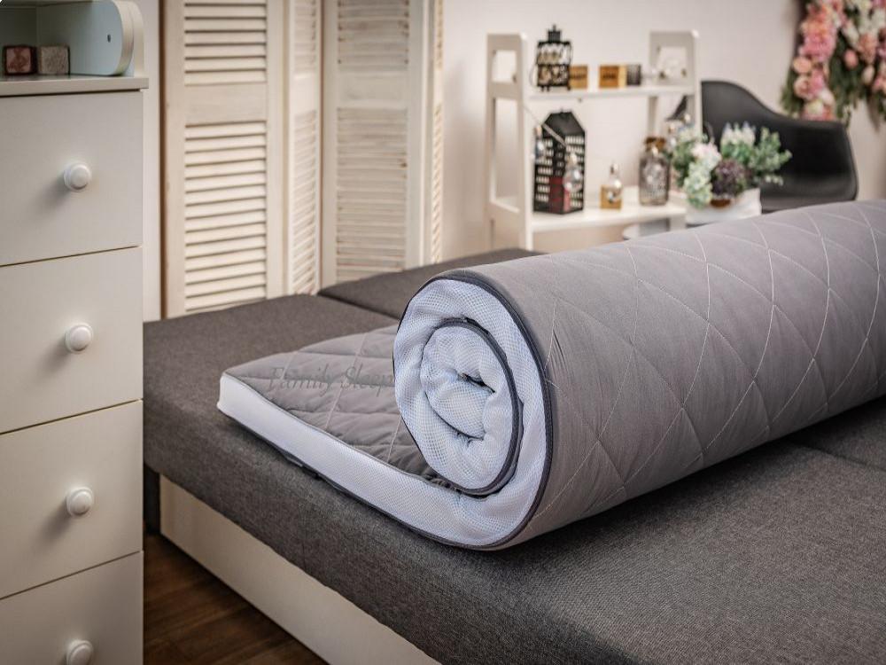 Матрас топпер Sky Gray-White collection 120x190 беспружинный умеренно мягкий 5 см высота