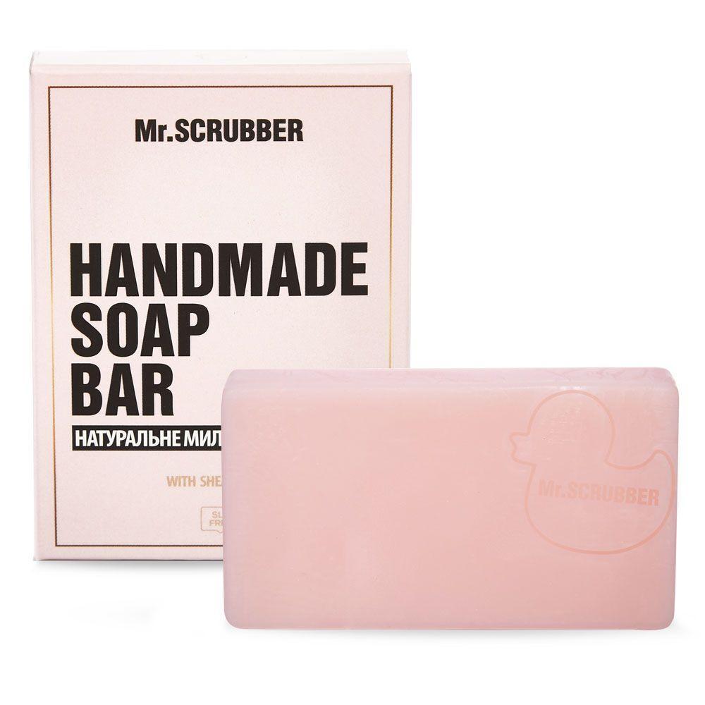 Брусковое мыло ручной работы в подарочной коробке Вишня Mr.SCRUBBER