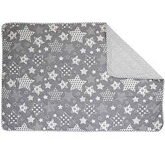 Одеяло Летнее двуспальное 172Х205 хлопковое 150 г/м2 Звезды Бежевое Серое (316.02ХБУ), фото 2