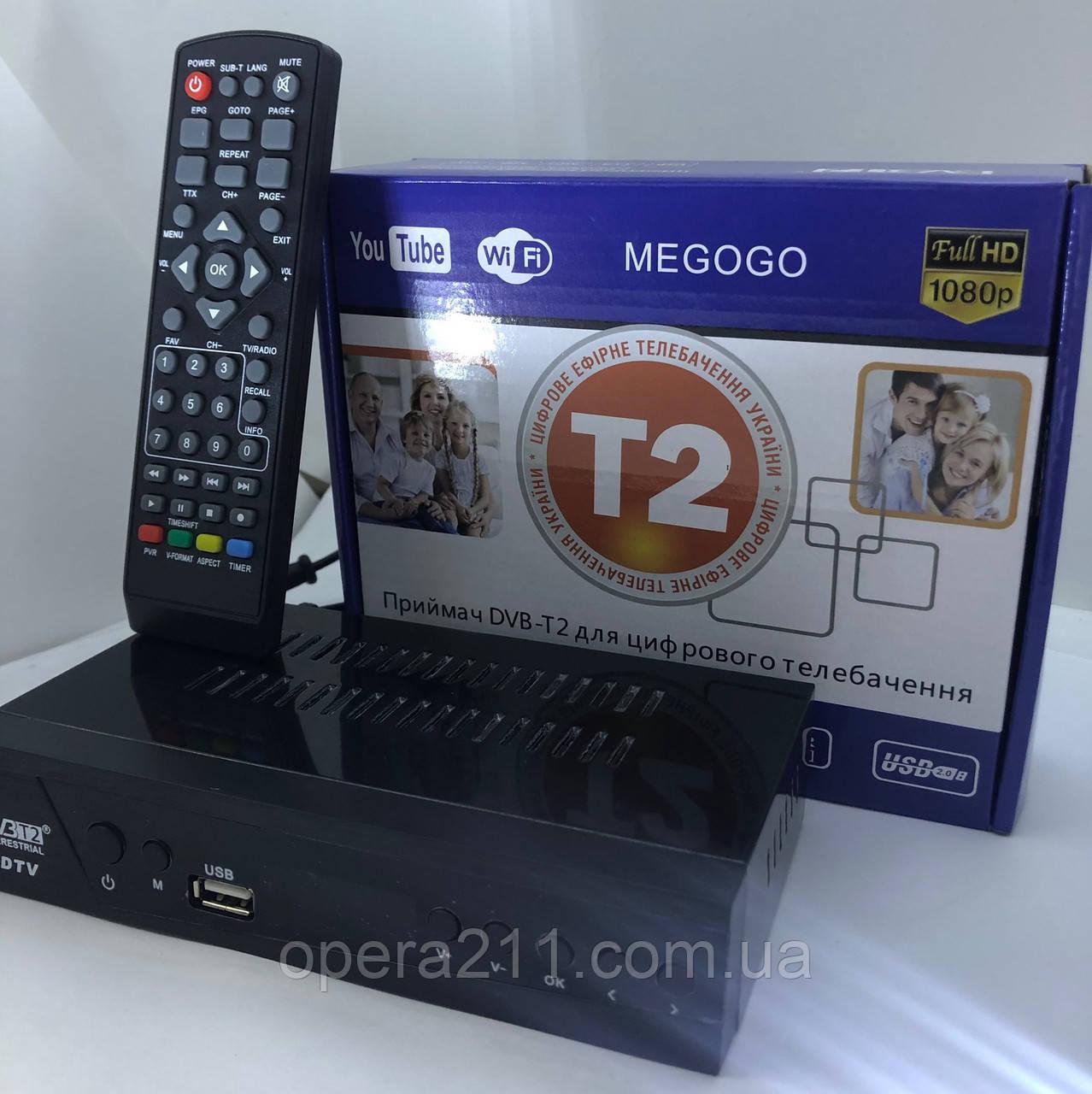 Тюнер Т2 MEGOGO MODEL-M8 5V (Метал) (40шт)