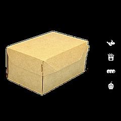 Упаковка для кондитерских изделийкрафт 150х100х85мм