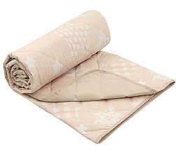 Одеяло Летнее полуторное 140Х205 хлопковое 150 г/м2 бязь Звезды Бежевое Серое, фото 2