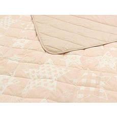 Одеяло Летнее полуторное 140Х205 хлопковое 150 г/м2 бязь Звезды Бежевое Серое, фото 3