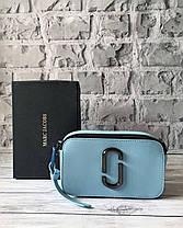 Голубая кожаная сумка Марк Джейкобс. Женская сумка Marc Jacobs Snapshot, фото 2