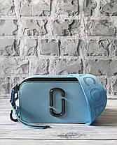 Голубая кожаная сумка Марк Джейкобс. Женская сумка Marc Jacobs Snapshot, фото 3