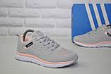 Кросівки жіночі легкі сітка в стилі Adidas grey pink, фото 5