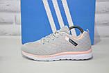 Кросівки жіночі легкі сітка в стилі Adidas grey pink, фото 3