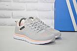 Кросівки жіночі легкі сітка в стилі Adidas grey pink, фото 2