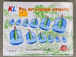 Вакуумні масажні банки DYKL 12шт / ART-0034 (30шт)