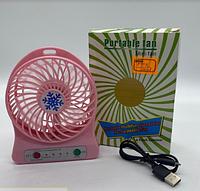 Вентилятор USB с аккумулятором (18650 MaH) F-95B (100шт)