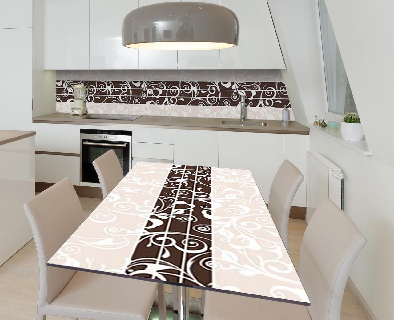 Наклейка 3Д виниловая на стол Zatarga «Шоколадный акцент» 600х1200 мм для домов, квартир, столов, кофейн, кафе