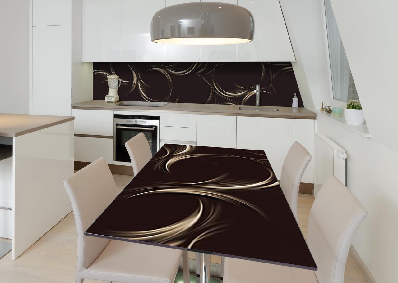 Наклейка 3Д вінілова на стіл Zatarga «Плаваючий вензель» 600х1200 мм для будинків, квартир, столів, кофеєнь, кафе