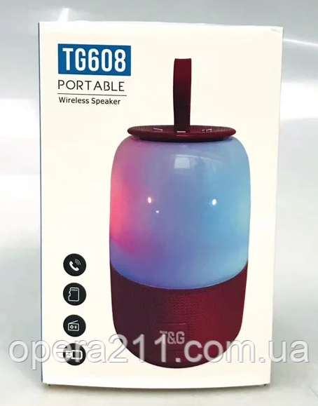 Портативні колонки T&G TG608 ((15CM)) (50шт)