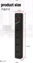 УДЛИНИТЕЛЬ RMX - UNIVERSAL HOLE POSITION 4 BKL-03 (4 SOCKET/ 4 USB) (60)
