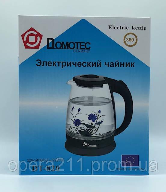 ЭлектроЧайник (цветок) DOMOTEC DT-820 BLACK FLOWER (12шт)