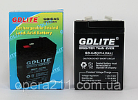 Акумулятор GD-LITE GD-645 (6V/4.0 AH) (20шт)