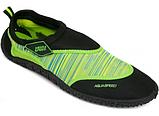 Детские аквашузы  Aqua Speed  (6567) Черно-зеленый 35, фото 2