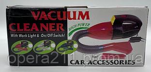 Пилосос для авто CAR VACUM CLEANER (червоний) 12V / ART-0233 (40шт)