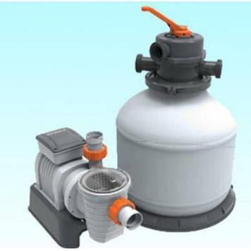 Насос с песочным фильтром для бассейнов Песчаный фильтр электрический Bestway для очистки воды в бассейне