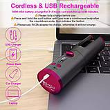 Беспроводной стайлер для завивки и укладки волос Ramindong Hair curler RD-060 | Автоматическая USB плойка, фото 6