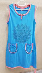 Туника-плаття жіноча без рукава з карманами