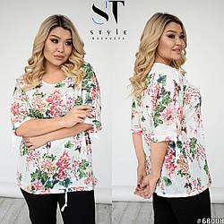 Женская блуза большого размера 52-54, 56-58, 60-62