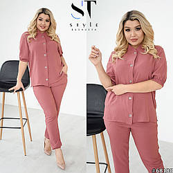 Летний брючный костюм кофта+брюки  Размер: 50-52, 54-56, 58-60