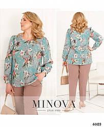 Элегантная и нежная блуза большого размера 50-52, 54-56, 58-60, 62-64, 66-68