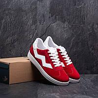 Мужские кроссовки красные с белым эко замш весна/лето/осень обувь мужская демисезонная Размеры 40,41,42,44,45