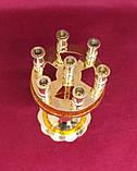 Підсвічник малий на 7 свічок золотий, висота 15см (Греція), фото 3