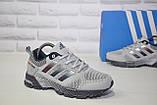 Кросівки сірі сітка в стилі Adidas Marathon унісекс, фото 2