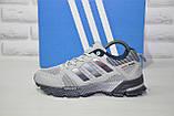 Кросівки сірі сітка в стилі Adidas Marathon унісекс, фото 5