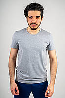 Мужская футболка из стрейч кулира серая