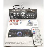 Підсилювач-стерео - BSW BS-701BT-Bluetooth-120W+120W - 2х канальний + Пульт.