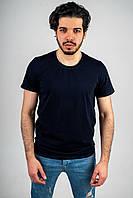 Мужская футболка из стрейч кулира темно-синяя