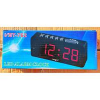 Часы настольные электронные сетевые VST-762-1 (Красные Цифры)