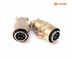 Роз'єм XS12 K5P кабельний, штекер, 5pin