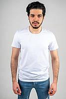 Мужская футболка из стрейч кулира белая