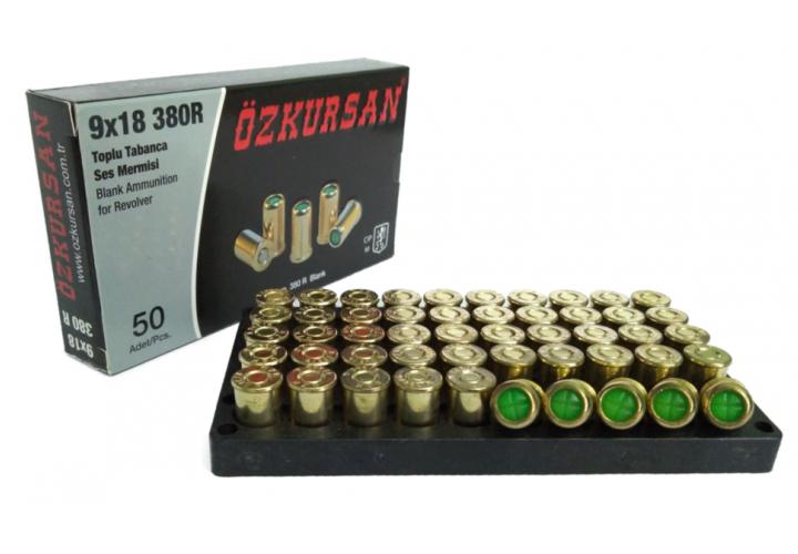 Патрон холостой Ozkursan 9 mm 50 шт (револьверный)