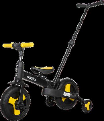 Дитячий велосипед трансформер 5 в 1 жовтий Nadle SL-A6