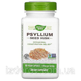 Nature's Way, Псиллиум в капсулах (шелуха семян подорожника), Psyllium Husk, 525 мг, 180 растительных капсул