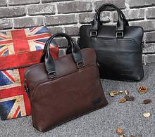 Чоловіча сумка для документів через плече чоловічий діловий портфель еко шкіра А4 формат