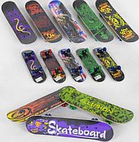 Скейт дерев'яною дошкою 3 вида d=5см,PVC довжина дошки=60см