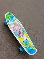 Пенни борд (скейт) с бесшумными светящимися колесами, 55х14 см (S-29661)