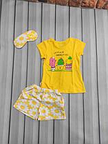 Пижама для девочки (футболка+шорты цветочек)