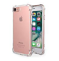 Чехол для iPhone 7, бесцветный, ударопрочный, прозрачный силикон